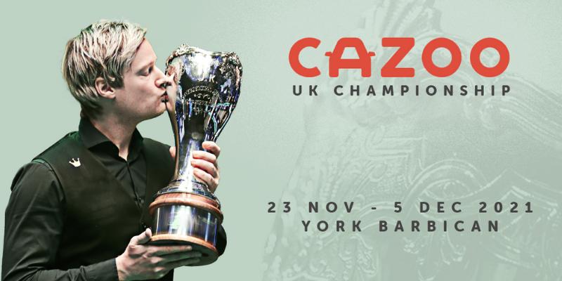 Cazoo Snooker UK Championship 2021
